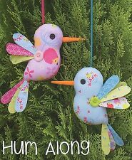 HUM ALONG - Sewing Craft PATTERN - Soft Toy Felt Doll Bear Rabbit Bird