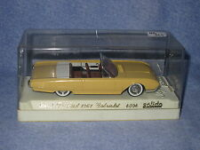 AB343 SOLIDO FORD T-BIRD THUNDERBIRD 1961 CADILLAC Ref 4504 1/43 BOX