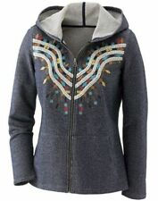 sz Large Charro Southwest Embroidered Hoodie Jacket by Seventh Avenue new