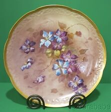 Limoges Hand Painted HP Artist Signed Plate Marsal Flowers Gold