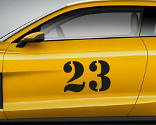 RACE NUMBERS font 01. Custom car vinyl door sticker. Track trails transfer.