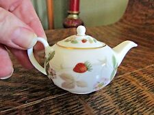 "WEDGWOOD MINIATURE ""WILD STRAWBERRY"" TEAPOT"