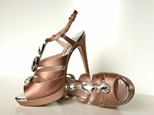 Miu Miu by PRADA Stilettos Strass Satin  Pumps High Heels 41,