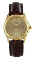 Casio LTP1183Q-9A Ladies Gold Tone Genuine Leather Casual Analog Watch Quartz