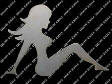 Sexy Metal Trucker Lady Girl Mudflap Nude Garage Art Hot Rat Rod Motorcycle RH