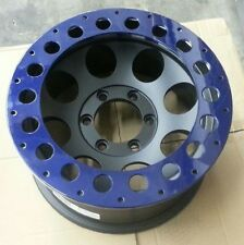"""BLOWOUT (4) EAGLE BEADLOCK RINGS FOR 102 185 195 16"""" INCH WHEELS RIMS BLUE"""