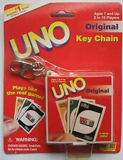UNO Miniature Card Game Keychain 2000 Mattel Key Ring Fun 4 All