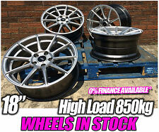 "18"" HYPERSILVER MOTORSPORT ALLOY WHEELS FITS BMW 1 M SPORT 3 SERIES 2 SERIES"