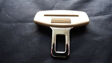 NISSAN CREAM SEAT BELT ALARM BUCKLE KEY INSERT PLUG CLIP SAFETY CLASP STOPPER