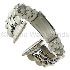 16-23mm Hirsch/Speidel Stainless Steel Silver Tone Buckle Watch Band Fits Fossil
