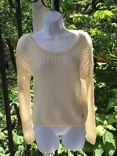 Abercrombie & Fitch Small Ivory L/S Sweater Slouchy Crop LN  #1177 2