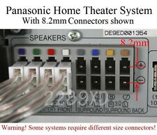 6 Speaker wires/cables 80ft/8.2mm plug made for select Panasonic home theater