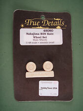 True Details 1/48 Resin Conversion Set Nakajima B5N Kate Wheel Set