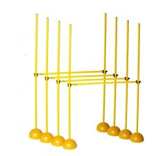 Complete SET 4 Universal Hurdle Pole Set AGILITY TRAINING SOCCER LACROSSE