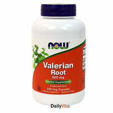 NOW FOODS Valerian Root 500 mg - 250 Capsules,Fresh, Free Shipping, Made in USA
