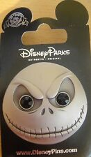Disney Parks- NBC-Jack Skellington Face Metal Black Gem Eyes Pin- New on Card