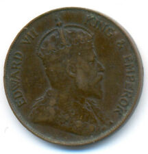 Hong Kong King & Emperor Edward VII Bronze 1 Cent 1905 H VF