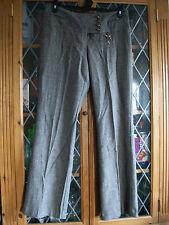 G:21 George Brown Herringbone Lowrise Pantalones UK10 ** ** GC