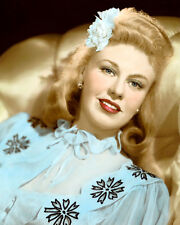 "GINGER ROGERS TENDER COMRADE 1943 ACTRESS 8x10"" HAND COLOR TINTED PHOTOGRAPH"