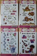 Craft Lounge Clear Stamps, 4 Sets, Pat the Dog, Kit Cat, Elephant, Star Rocks