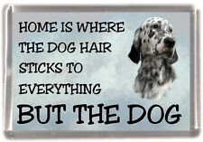 "English Setter Dog Fridge Magnet ""Home is Where"" Design by Starprint"