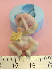 BABY GIRL SILICONE MOLD #173 CHOCOLATE, FONDANT, GUMPASTE, FAVORS, SOAP, CANDLE