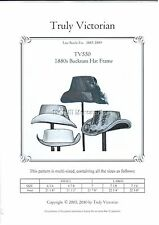 Truly Victorian TV550 SEWING PATTERN for buckram hat frame and hat