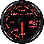 Defi Racer Gauge 52mm Temperature Meter DF06705 Red