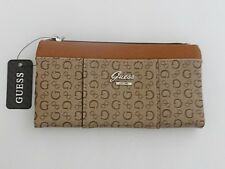 NWT Women's GUESS Brown Mocha Flowing Slg Zip Around Wallet SV649959