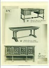 PHOTOGRAPHIE ORIGINALE MEUBLES BMC BUREAU TABLE BUFFET  LOUIS XIII
