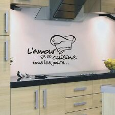 French Quote L'amour ça se Cuisine Love to Cook Wall Sticker for Kitchen Decor