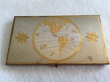 Vintage Cigarette Case World Travel Theme By Wadsworth