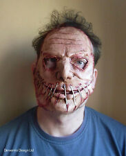 MENS SCARY ZOMBIE FACE MASK DELUXE LATEX FANCY DRESS HALLOWEEN HORROR MASKE NEW