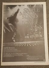 Simple Minds Stand by Love 1991 press advert Full page 30 x 42cm mini poster