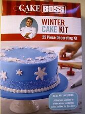 Cake Boss Decorating Tools Winter and Holiday Cake Kit New