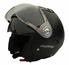 LS2 Helmet - OF545 Matt Black -Dual Visor Open Face Imported Motorcyle Helmet XL