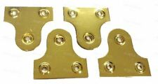 50mm Brassed Mirror Hanging Plates Large Picture Frame Flat Bracket Hanger x4