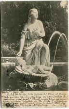 1905 Roma Gruppo della Fontana Mosè Pincio Statua Montelimar Drome FP B/N VG