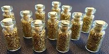 12 Large Bottles of Gold Leaf Flakes ..... Lowest price on Ebay !!