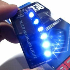 Car Auto Alarm 6 Blue LED Solar Power Warning Flashing Light Sensitive