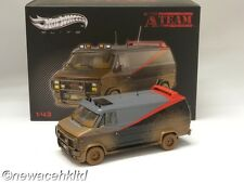 A-TEAM VAN mud-spattered ELITE HOTWHEELS MODEL 1/43 #BCT88