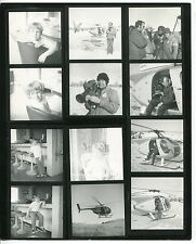 "Vintage Photographer's Proof Sheet: ""HUGHES 500C"" Helicopter"