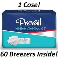 Case of 60! Prevail Breezers 360 SIZE 3, Briefs ADULT DIAPERS **Free Shipping!**