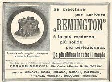 Y2179 Macchine da scrivere REMINGTON - Pubblicità del 1903 - Old advertising