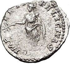 CARACALLA 196AD Silver Ancient Roman Coin Felicatas Good luck i55426