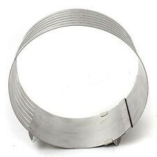 Adjustable Round Stainless Steel Mousse Cake Ring Mold Layer Slicer Cutter New