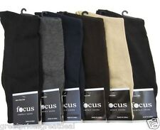 6 Pairs Mens Focus Solid Plain Dress Socks #5F Multi Color AE Size 9-11