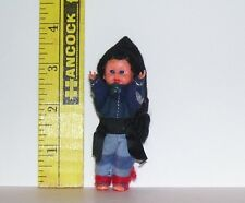 VINTAGE DRESSED MINIATURE SMALL DOLL GOOD CONDITION AS SHOWN