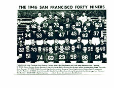 1946 SAN FRANCISCO FORTY NINERS 8X10 TEAM PHOTO AAFC WEST NFL HOF USA FOOTBALL