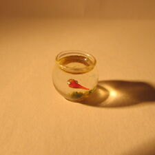 DOLLS HOUSE MINIATURE GLASS FISH BOWL
